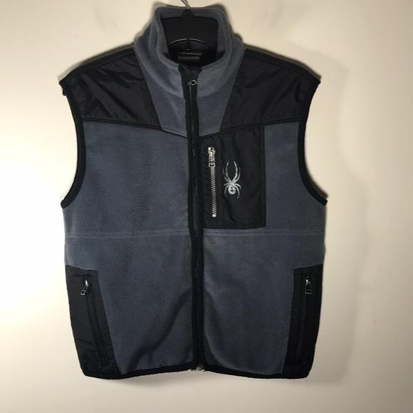 Spyder Other - Spyder Fleece Boys Vest Gray black XL